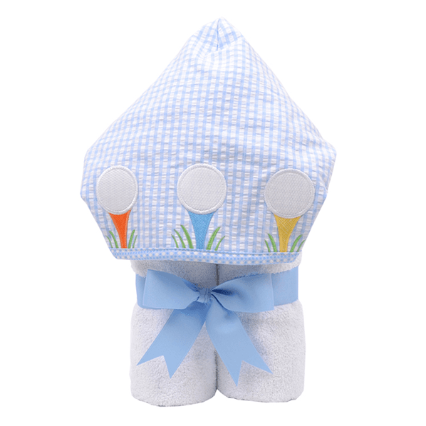Everykid Hooded Towel Blue Golf Game