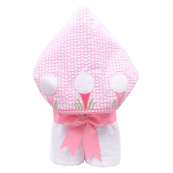 Everykid Hooded Towel Pink Golf Game