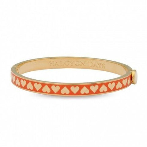 Skinny Heart Orange Gold Bangle