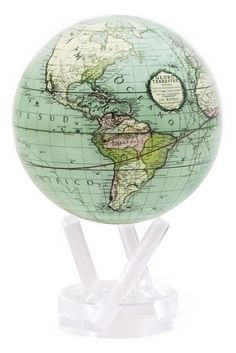 Antique Terrestrial Green Mova Globe