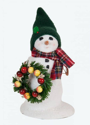 Small Snowman With Wreath