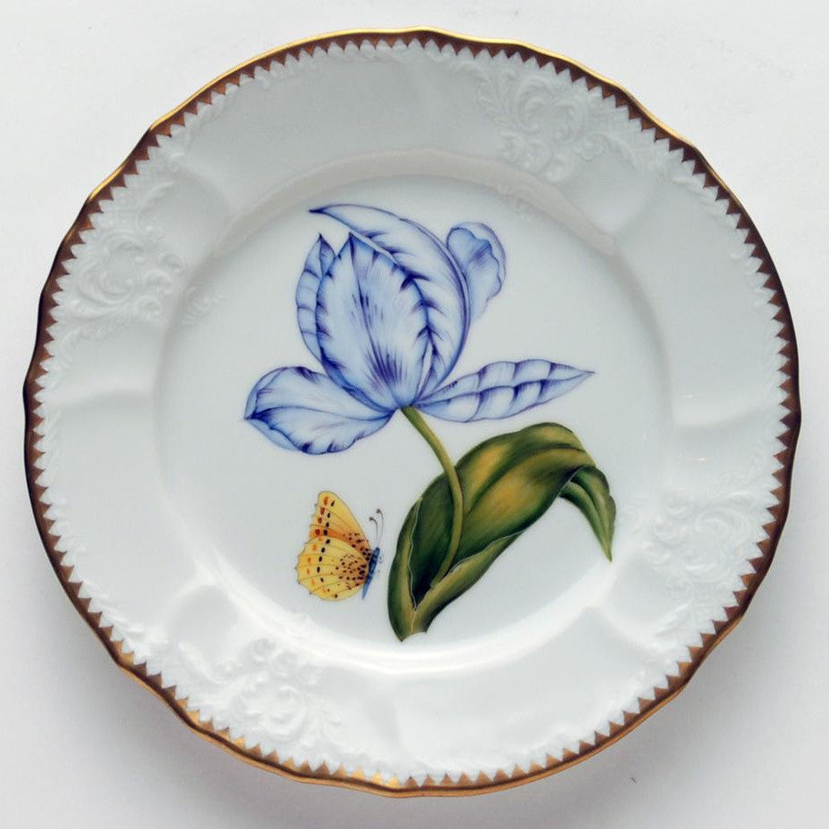 Old Master Tulips Purple & Blue Salad Plate