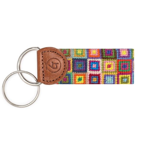Multi Colored Square Keychain