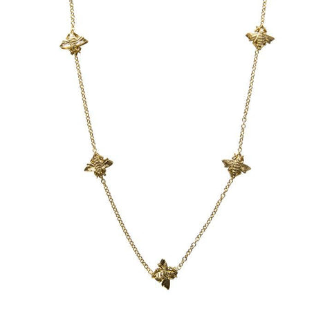 Bee Long Station Necklace
