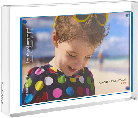 Blue Accent Magnet Frame 4x6