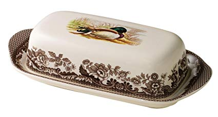 Woodlands Mallard Covered Butter Dish