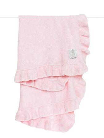Dolce Ruffle Baby Blanket, Pink