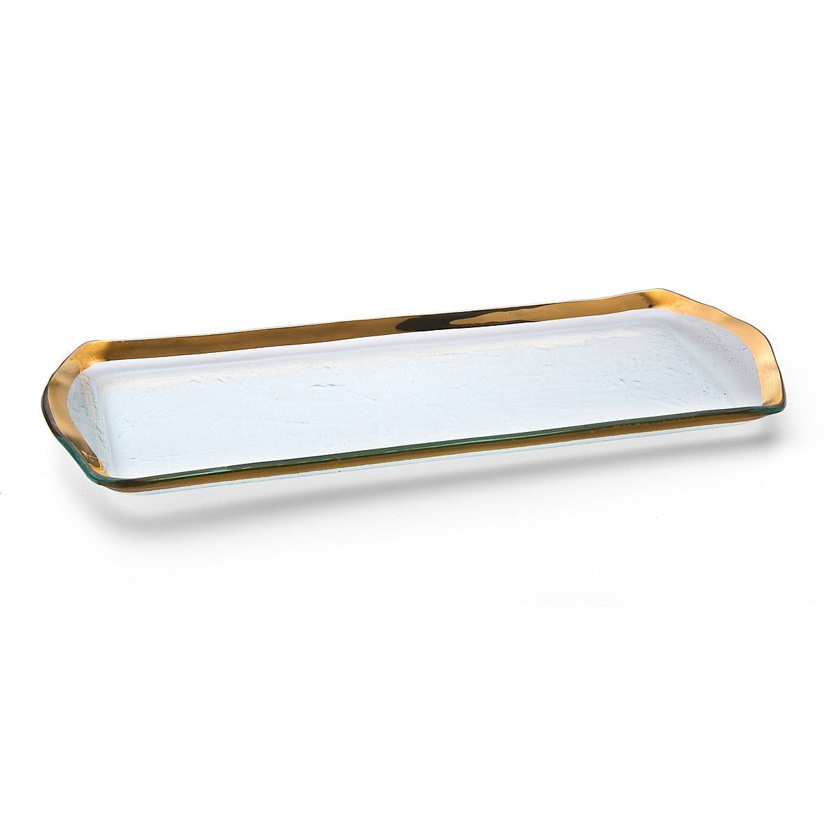 Roman Antique Gold Oblong Pastry Tray