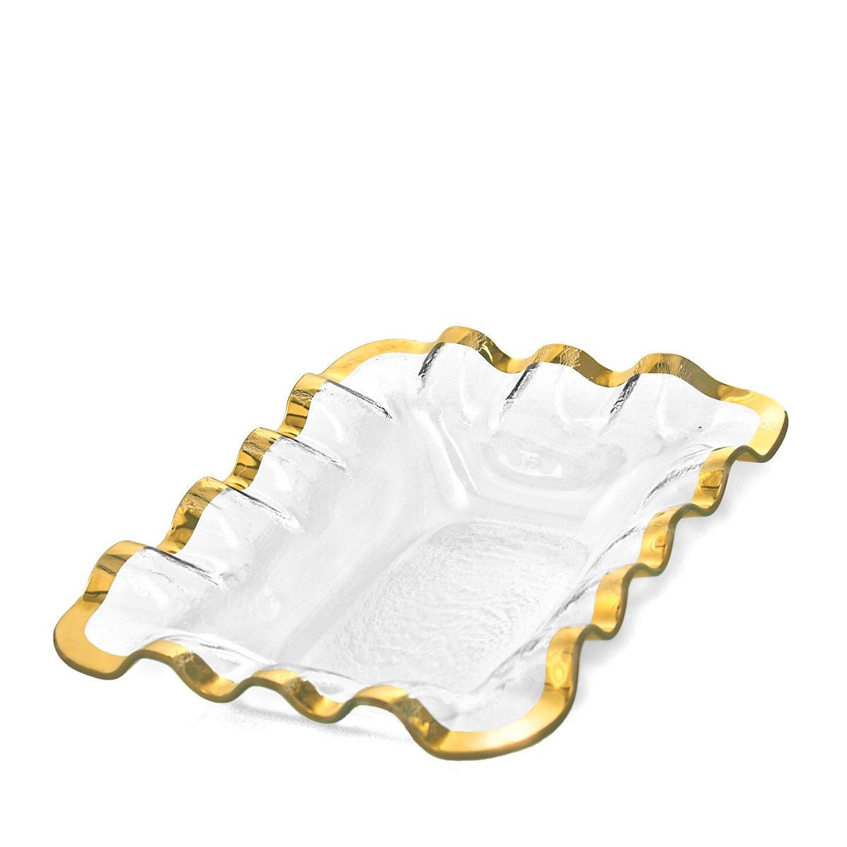 Ruffle Gold Bread Basket