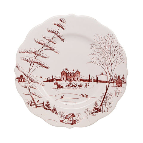 Country Estate Ruby Dinner Plate Christmas Eve