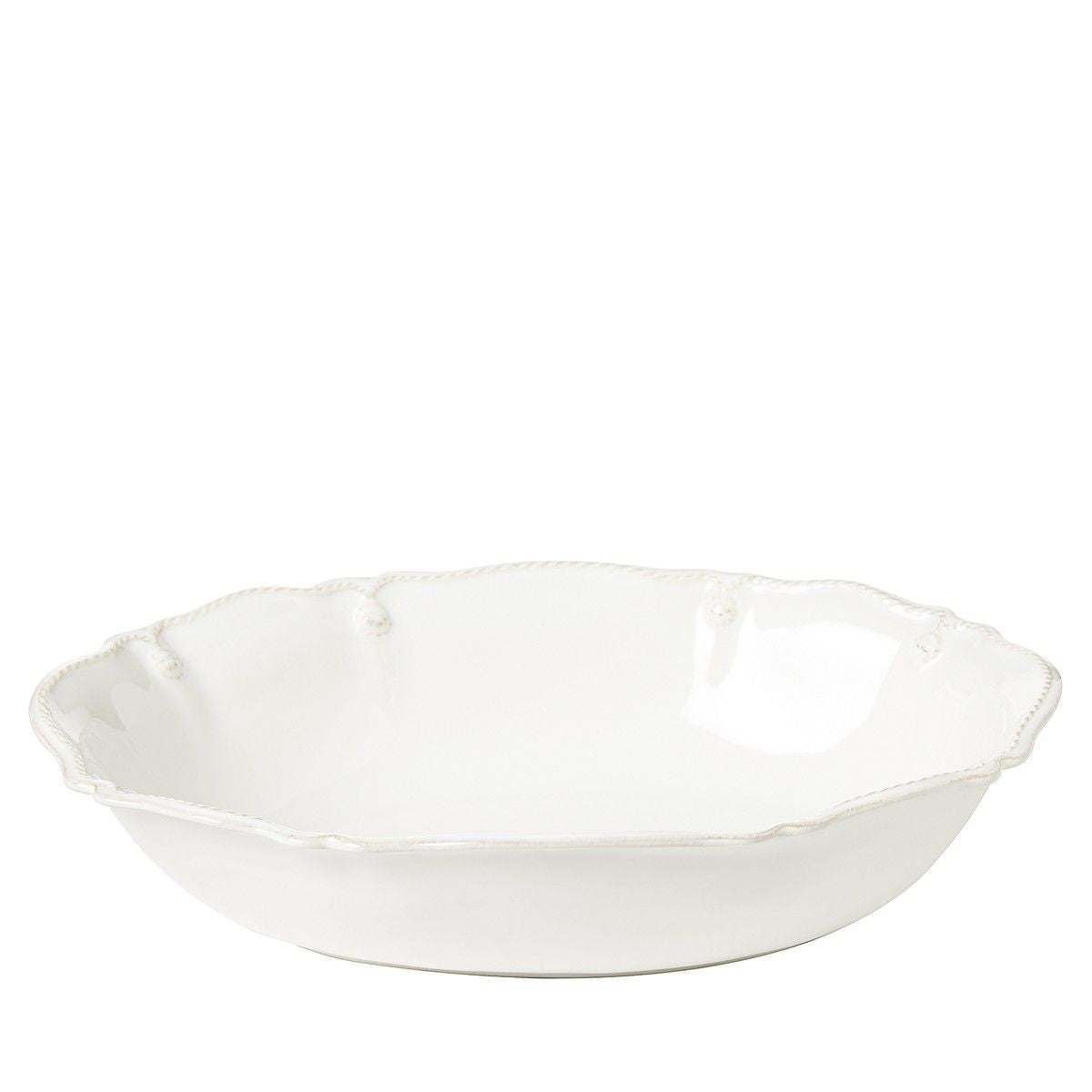 "B&T Whitewash 12"" Oval Serving Bowl"