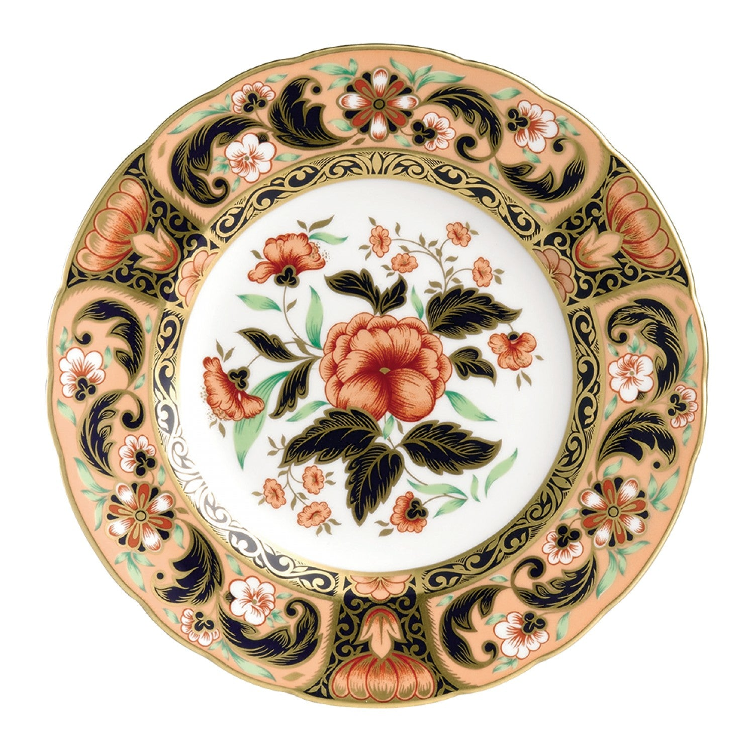 Derby Pink Camellias Accent Salad Plate