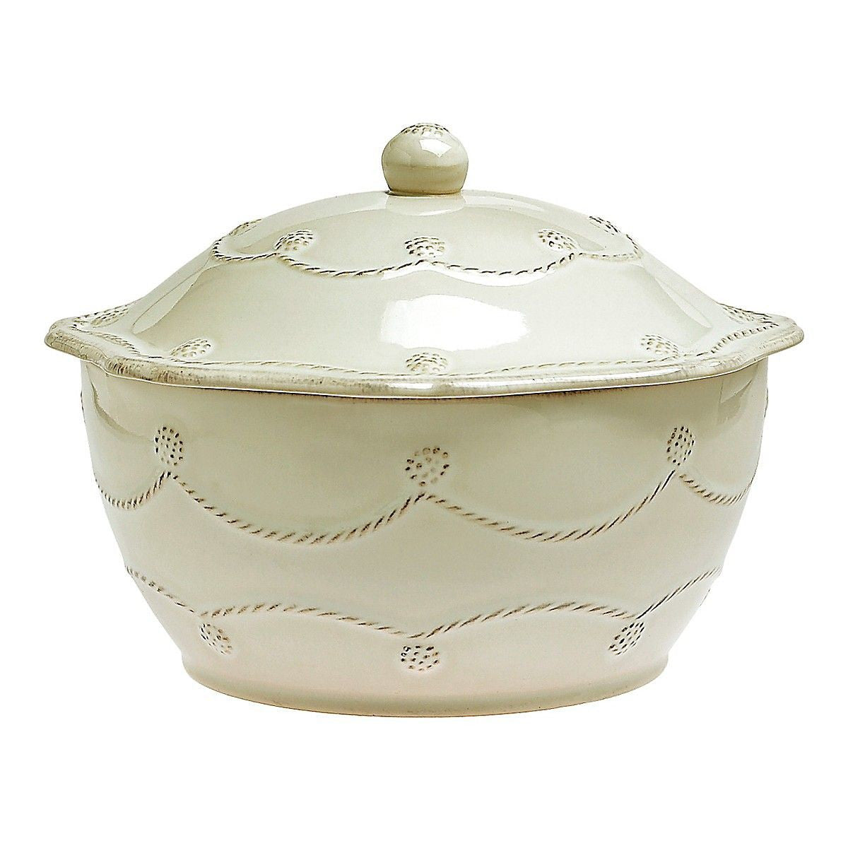 Berry & Thread White Large Covered Casserole