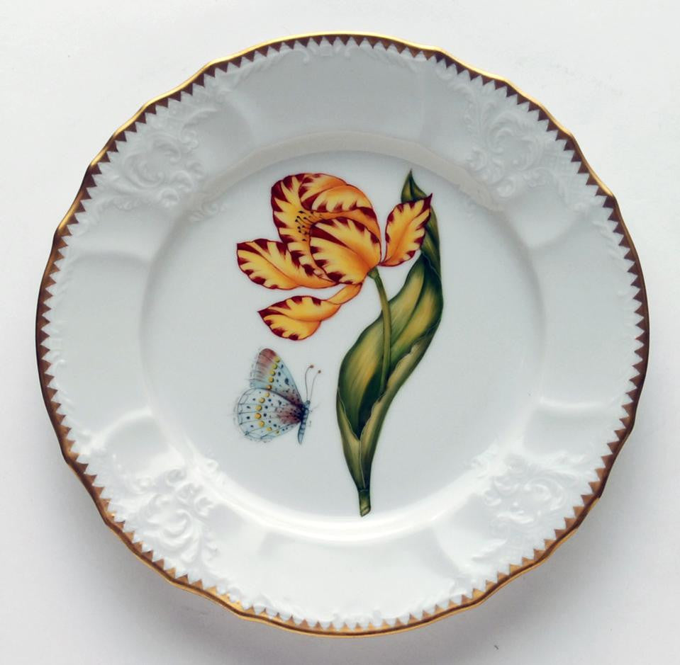 Old Master Tulips Yellow & Red Salad Plate