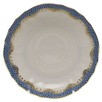 Blue Fish Scale Canton Saucer