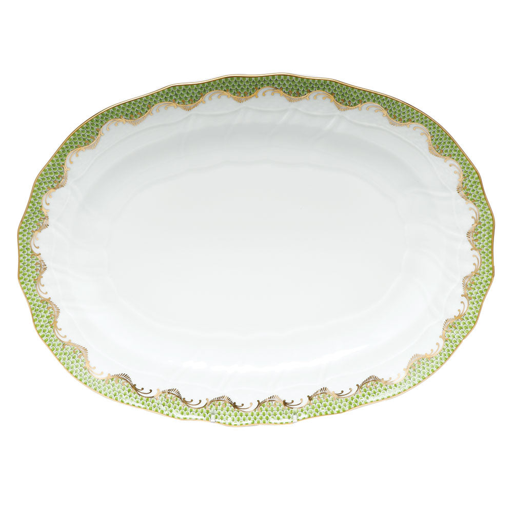 Fish Scale Green Platter