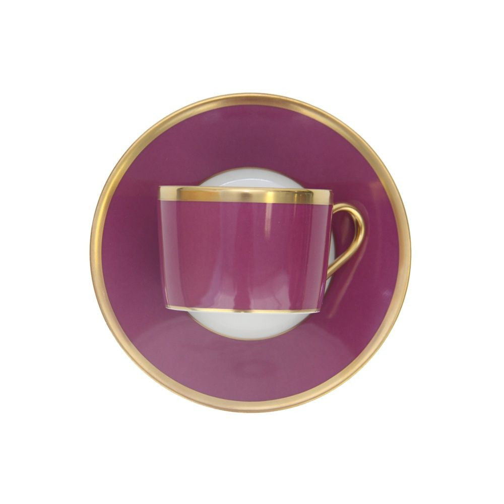 Arc En Ciel Fuschia Cup And Saucer