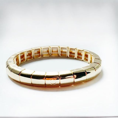 Tile Tube Bracelet - Gold