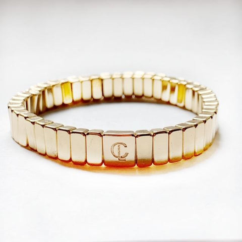 Tile Bracelet - All Gold Mini