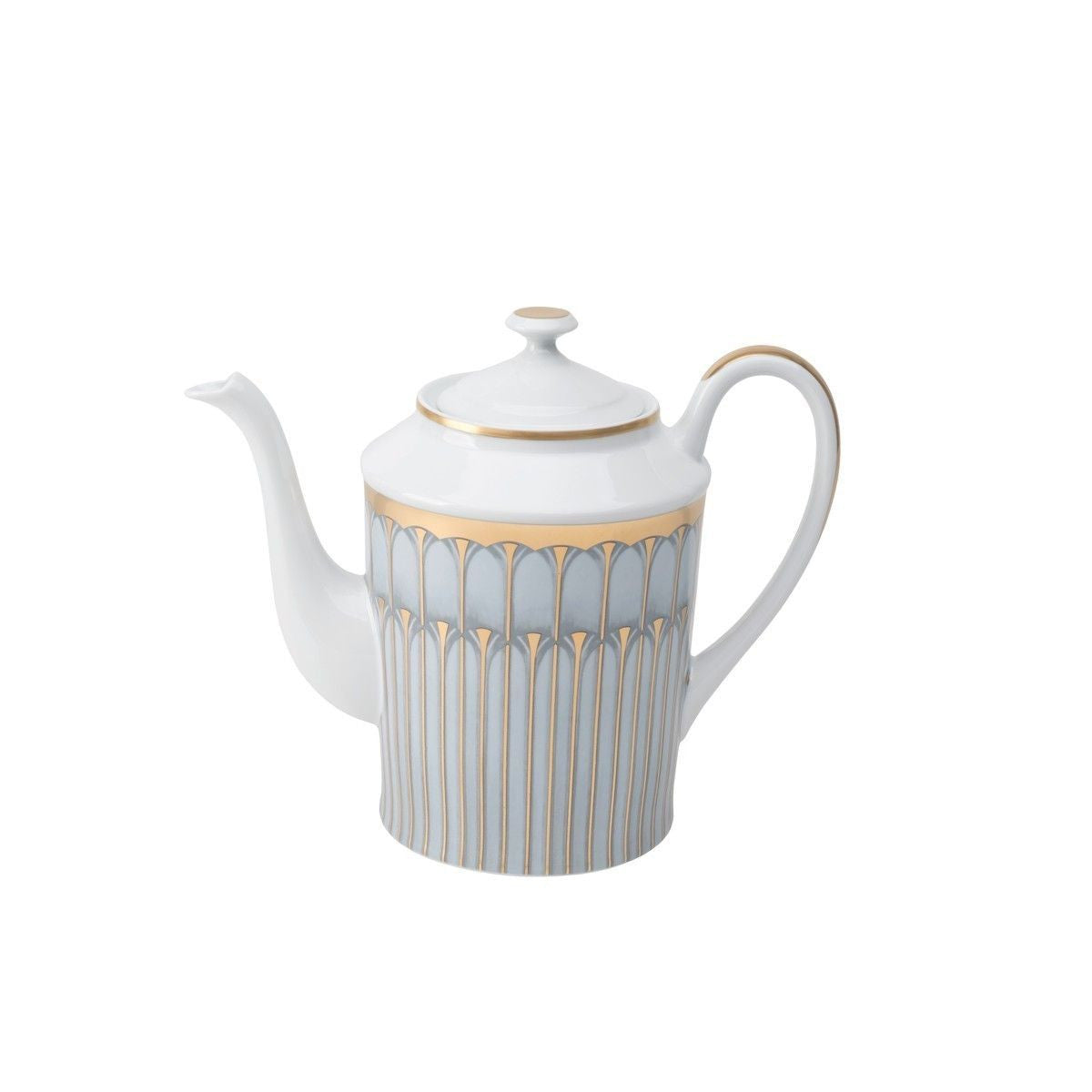 Arcades Grey & Gold Coffee Pot