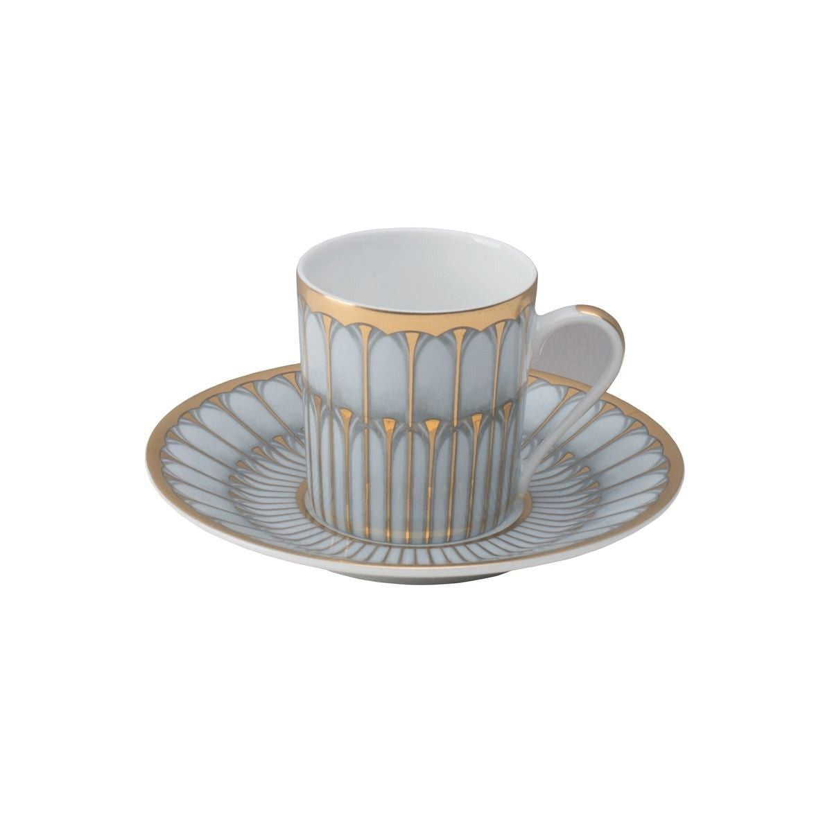 Arcades Grey & Gold Coffee Saucer