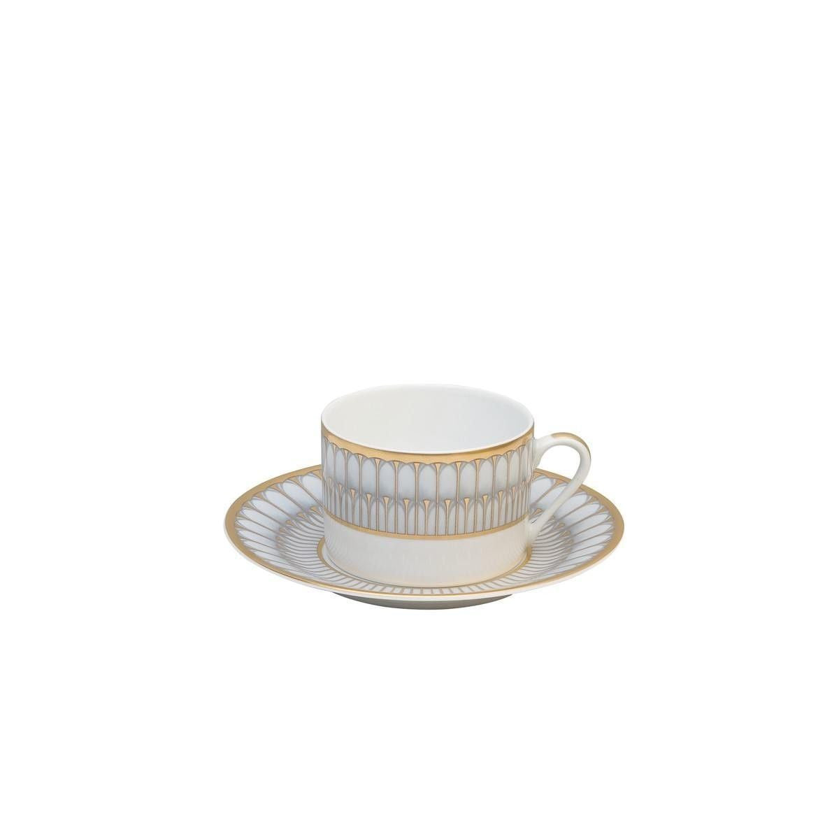Arcades Grey/Gold Tea Cup