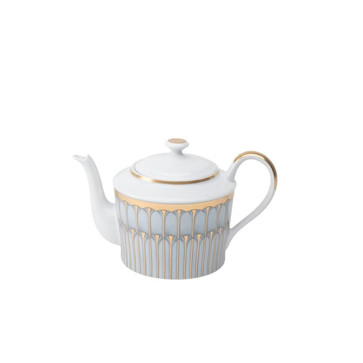 Arcades Grey & Gold Tea Pot