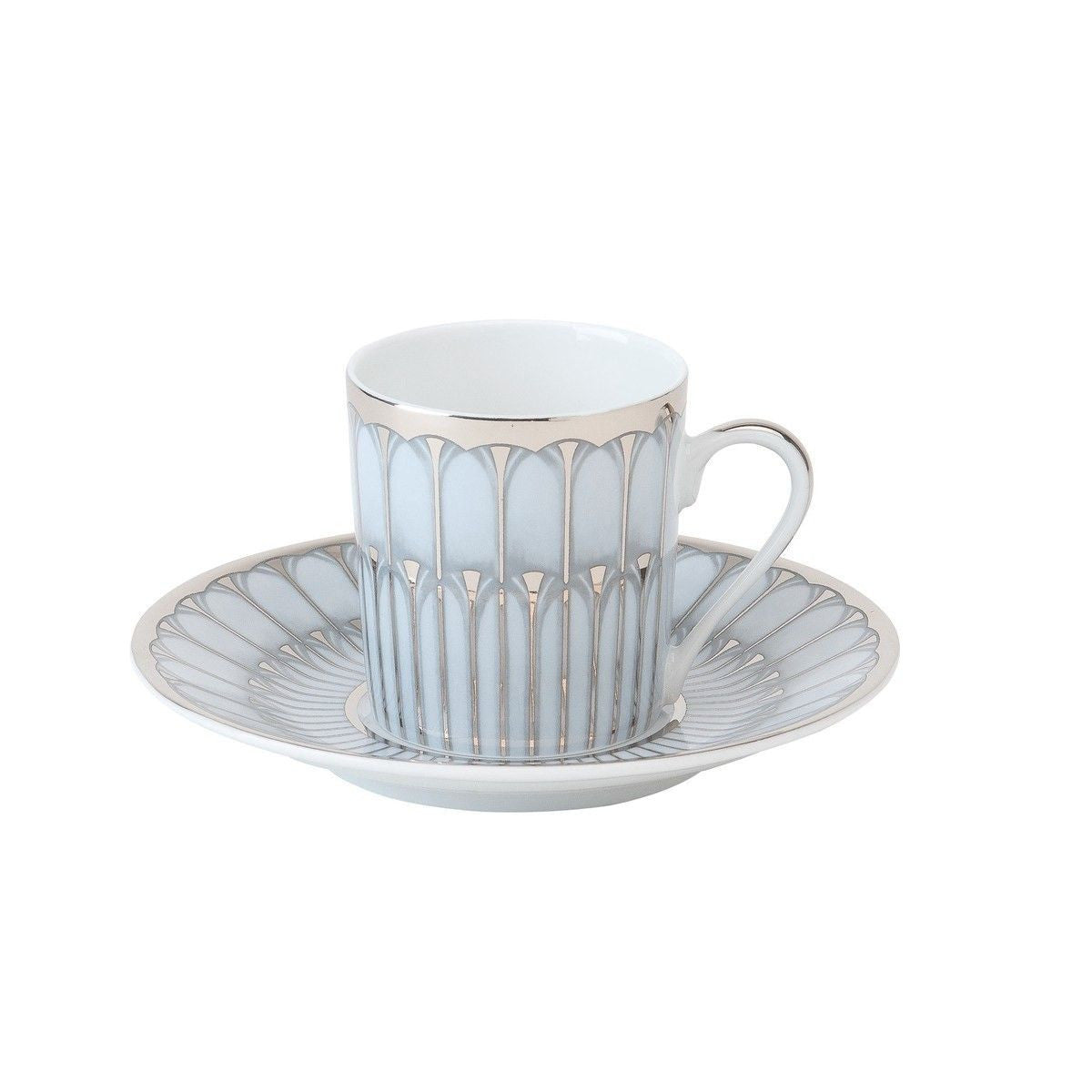 Arcades Grey/Platinum Coffee Saucer