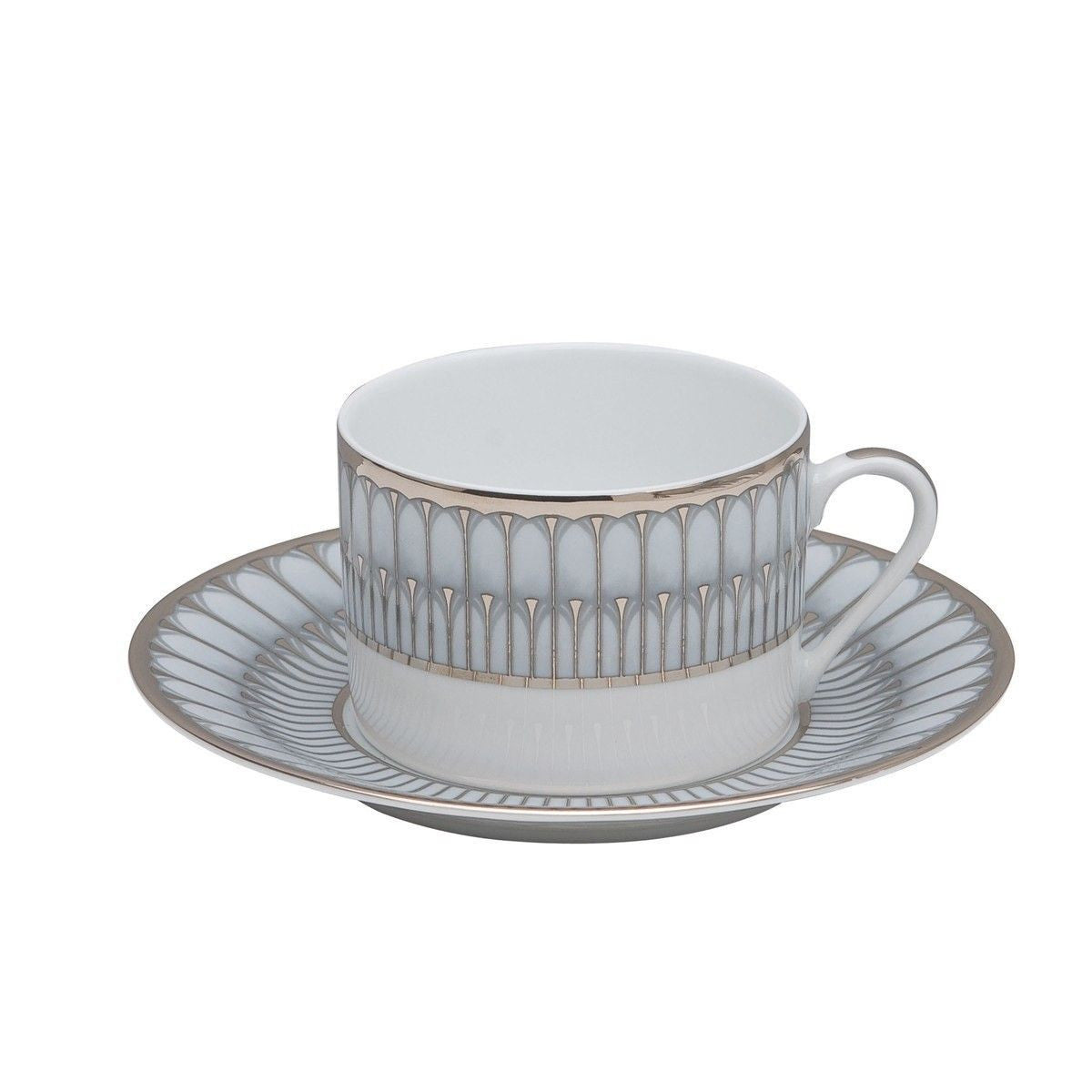 Arcades Grey & Platinum Tea Cup