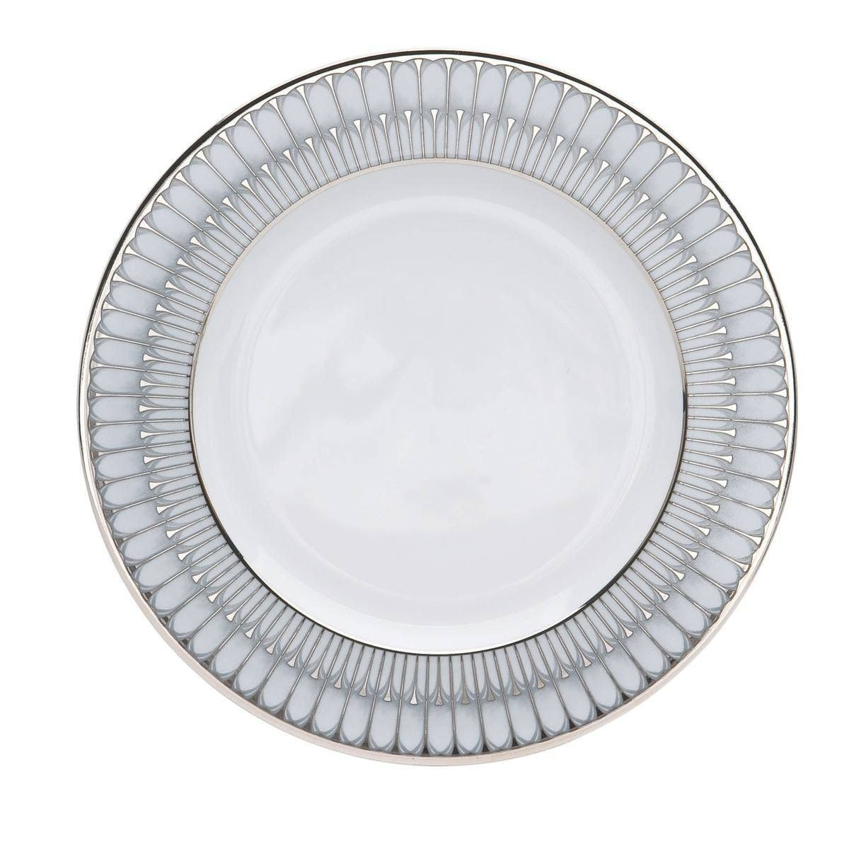Arcades Grey And Platinum Dinner Plate