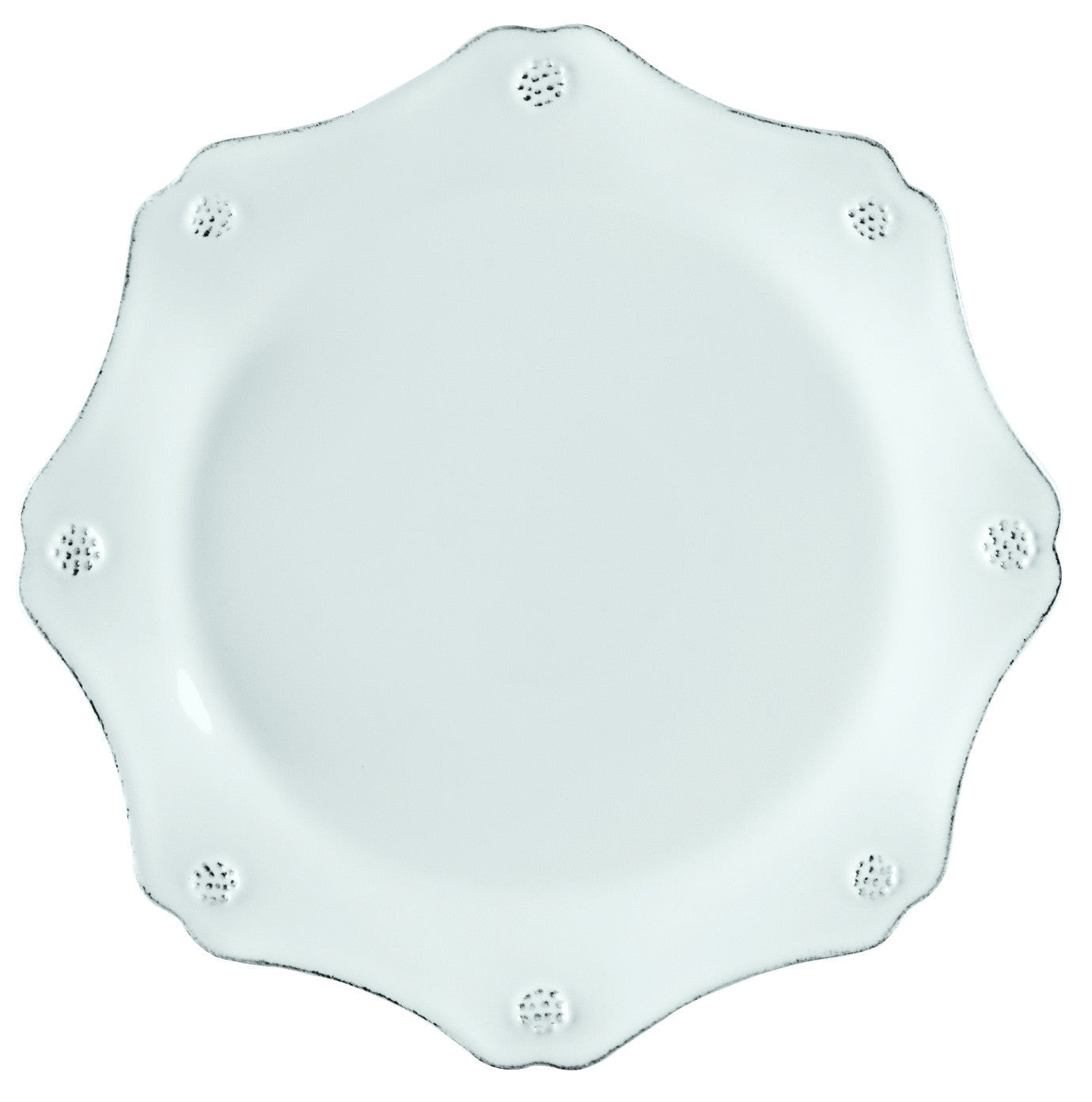 Berry & Thread White Scallop Tea Plate