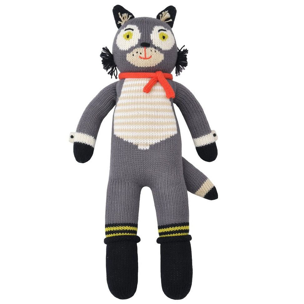 Beauregard the Wolf Knit Doll