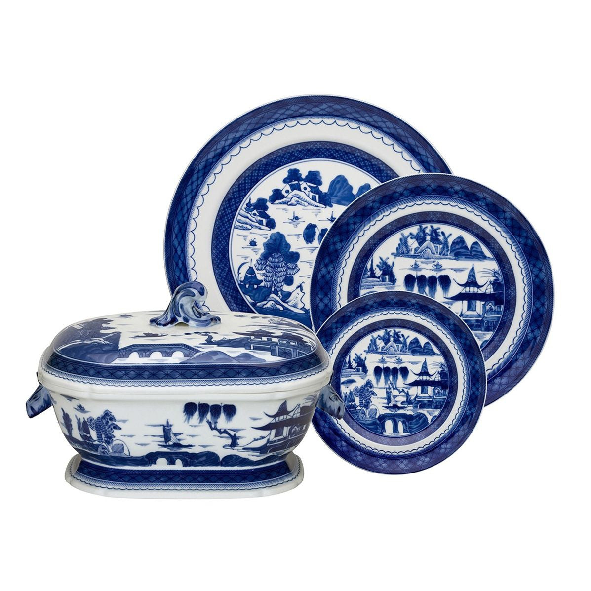Blue Canton Dinner Plate