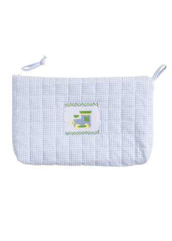 Train Quilted Cosmetic Bag