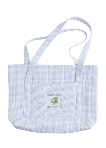 Train Quilted Tote