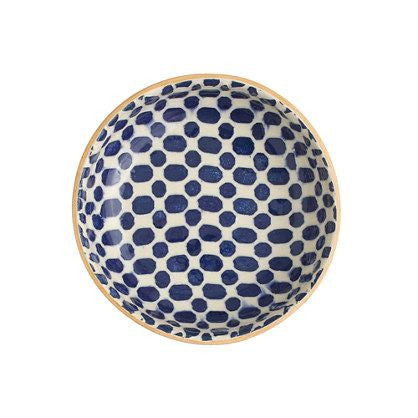 Cobalt Dot Fruit Dessert Bowl