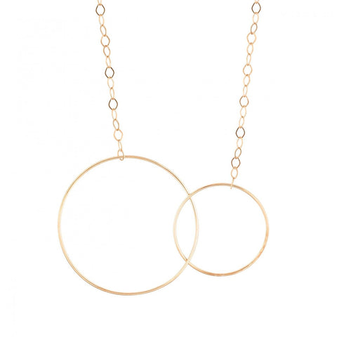 Circle and Baby Circle Necklace
