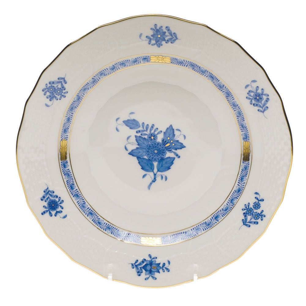 Chinese Bouquet Blue Dessert Plate