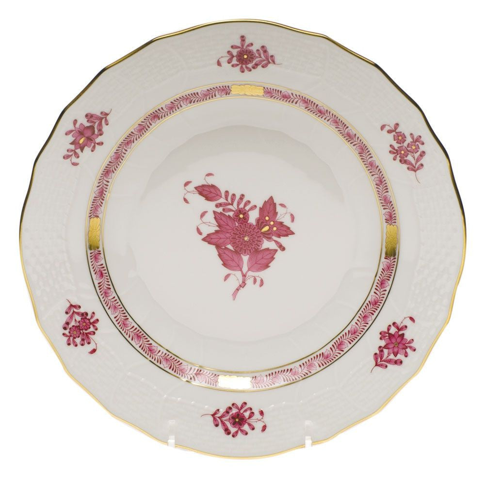 Chinese Bouquet Raspberry Dessert Plate
