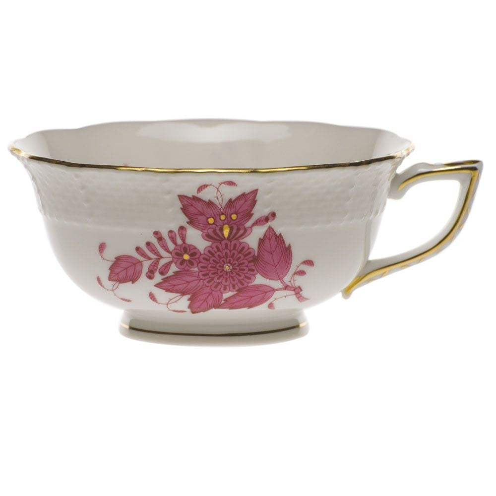 Chinese Bouquet Raspberry Tea Cup