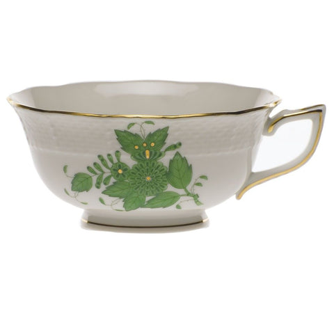 Chinese Bouquet Green Tea Cup