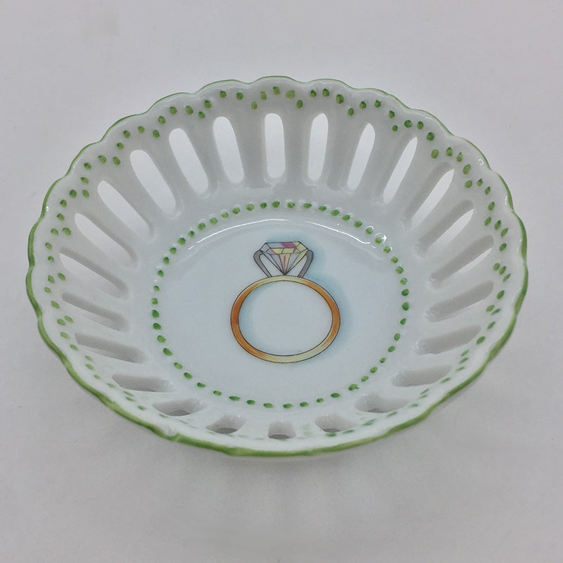 Engagement Ring Dish Green