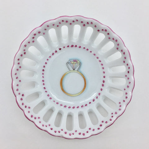Engagement Ring Dish - Pink
