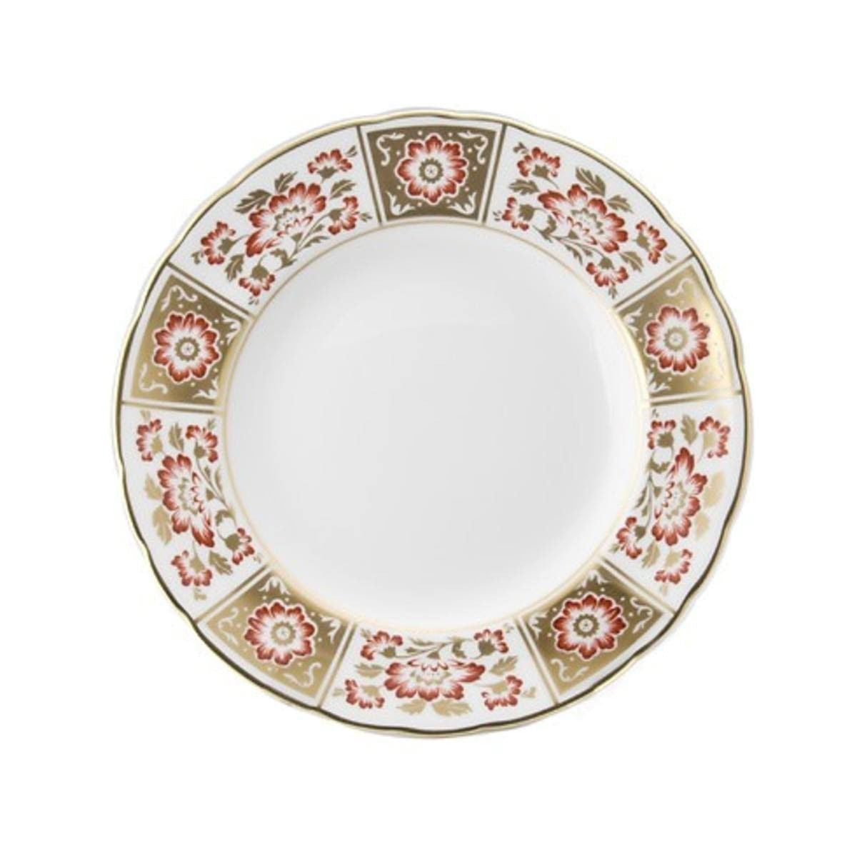 Derby Panel Red Salad Plate