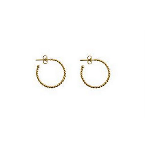 Mini Twisted Gold Hoop Earrings