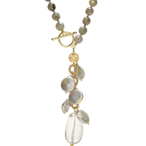 Ellinor Clasp Necklace Labradorite