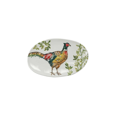 Fauna Pheasants Small Oval Platter