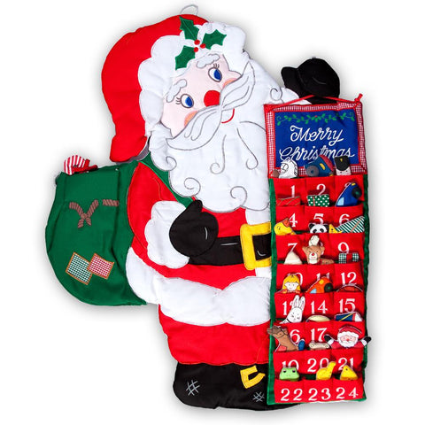 Santa Advent Calendar Wall Hanging