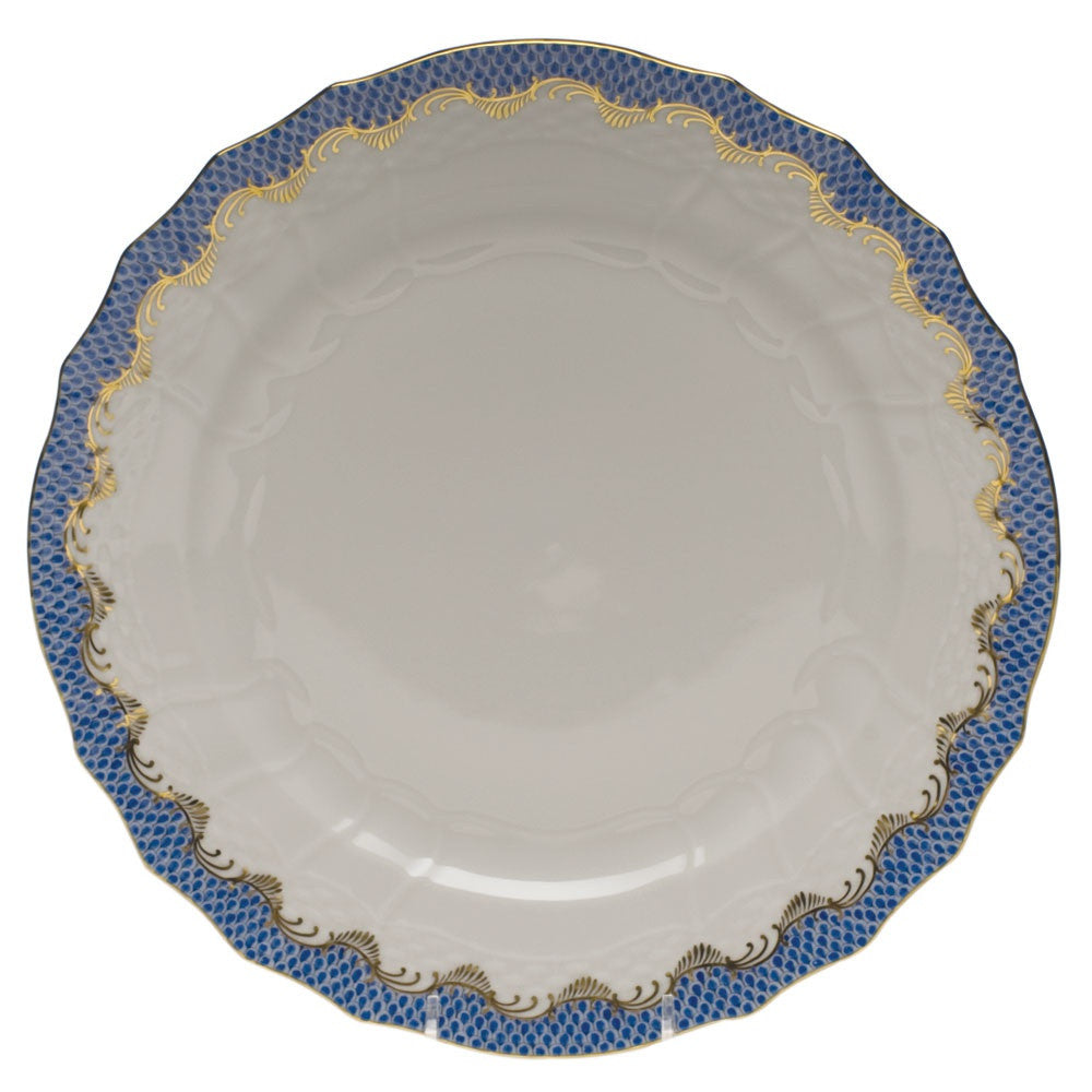 Blue Fish Scale Service Plate