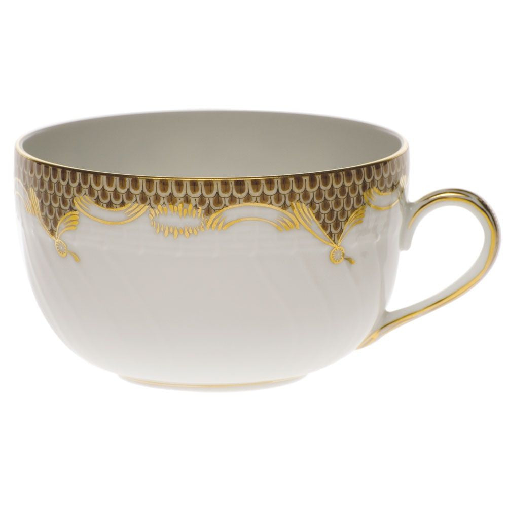 Brown Fish Scale Tea Cup